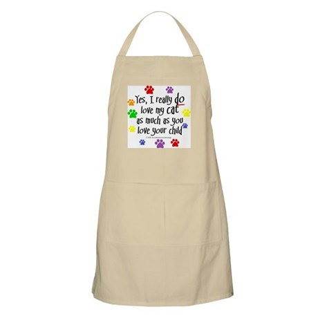 Love cat, child BBQ Apron