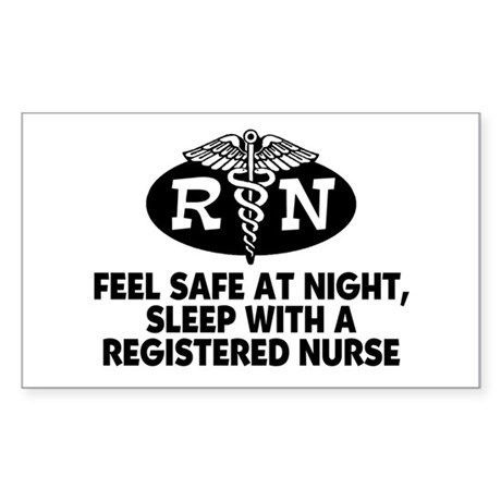 Feel Safe at Night Sleep with a Nurse Sticker (Rec