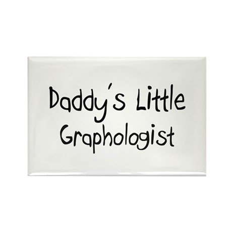 Daddy's Little Graphologist Rectangle Magnet