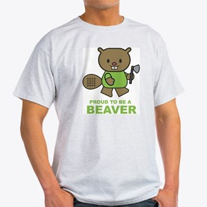 Proud To Be A Beaver Ash Grey T-Shirt