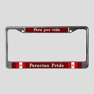 Peruvian Pride License Plate Frame