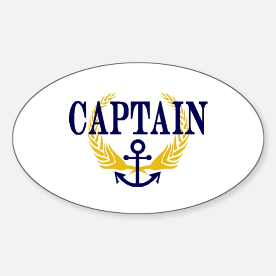 CAPTAIN Oval Decal