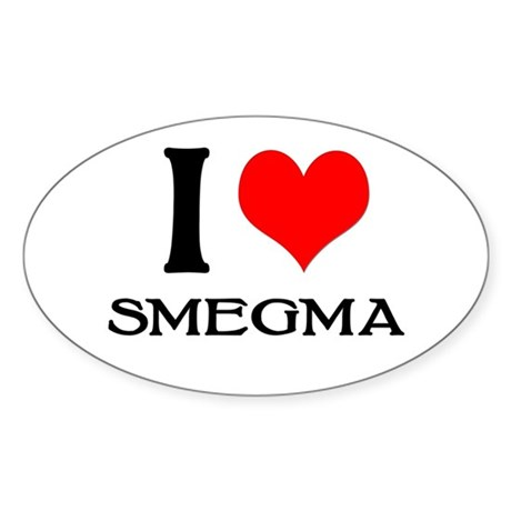 White Smegma Oval Sticker