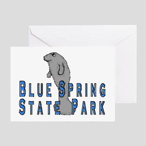 Blue Spring State Park Manate Greeting Card