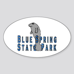 Blue Spring State Park Manate Oval Sticker