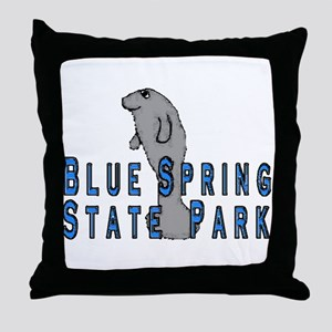 Blue Spring State Park Manate Throw Pillow