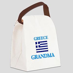 Greece Grandma Canvas Lunch Bag