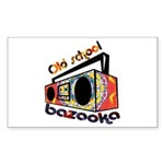 Old school Rectangle Sticker 10 pk)