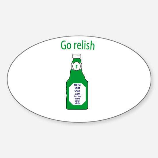 Go Relish Oval Decal