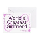 World's Greatest Girlfriend Greeting Cards (Pk of