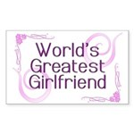 World's Greatest Girlfriend Rectangle Sticker 50