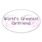 World's Greatest Girlfriend Oval Sticker (50 pk)