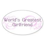 World's Greatest Girlfriend Oval Sticker (10 pk)