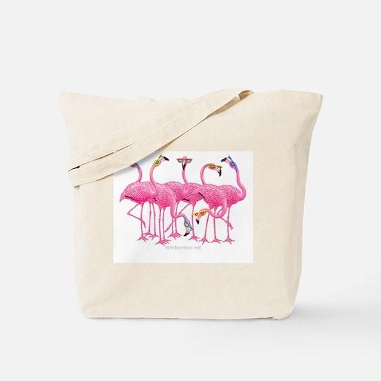 Unique Flamingos Tote Bag