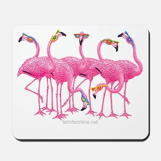 Cute Pink flamingo Mousepad