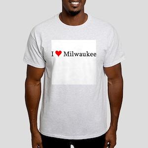 I Love Milwaukee Ash Grey T-Shirt