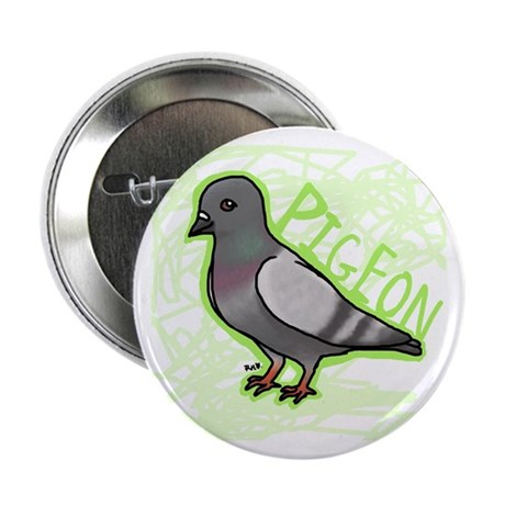 """Scribble pigeon 2.25"""" Button"""