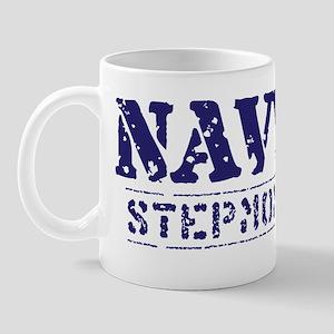 Navy Stepmom Worn Stencil Mug