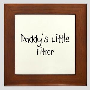 Daddy's Little Fitter Framed Tile