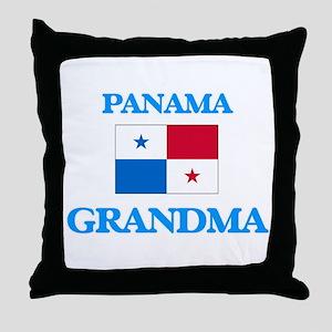 Panama Grandma Throw Pillow