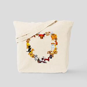 Dog Heart Tote Bag