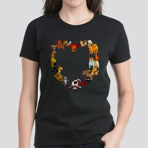 Dog Heart Women's Dark T-Shirt