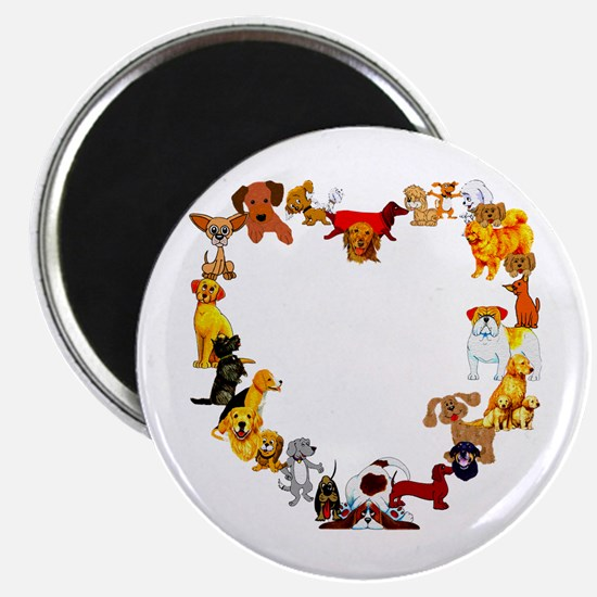 "Dog Heart 2.25"" Magnet (10 pack)"
