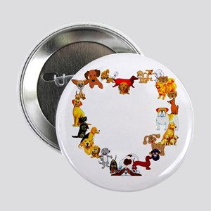 "Dog Heart 2.25"" Button"