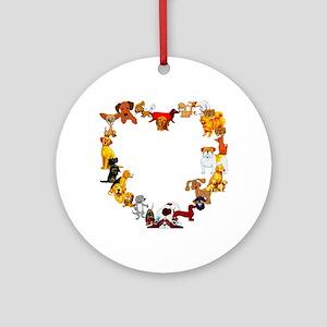 Dog Heart Ornament (Round)