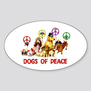 Dogs Of Peace Oval Sticker
