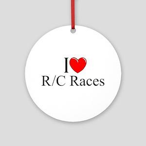 """I Love (Heart) R/C Races"" Ornament (Round)"