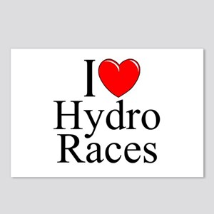 """""""I Love (Heart) Hydro Races"""" Postcards (Package of"""