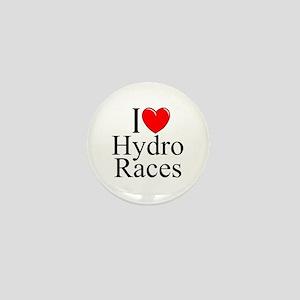 """""""I Love (Heart) Hydro Races"""" Mini Button"""