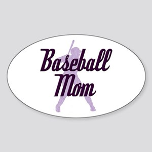 Baseball Mom Oval Sticker