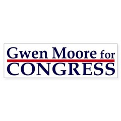 Gwen Moore for Congress car sticker
