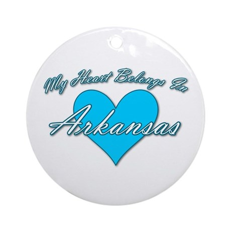 My Heart Arkansas Ornament (Round)