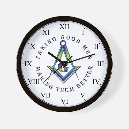 Taking Good Men Masonic Wall Clock (Roman)