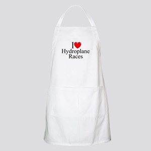 """I Love (Heart) Hydroplane Races"" BBQ Apron"