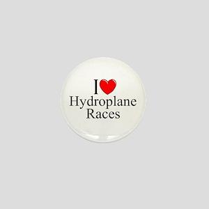 """""""I Love (Heart) Hydroplane Races"""" Mini Button"""