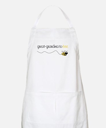 great grandma to be t-shirt BBQ Apron
