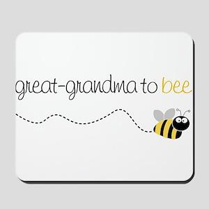 great grandma to be t-shirt Mousepad