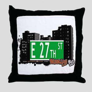 E 27th STREET, BROOKLYN, NYC Throw Pillow