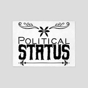 Political status 5'x7'Area Rug