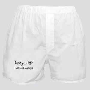 Daddy's Little Fast Food Manager Boxer Shorts
