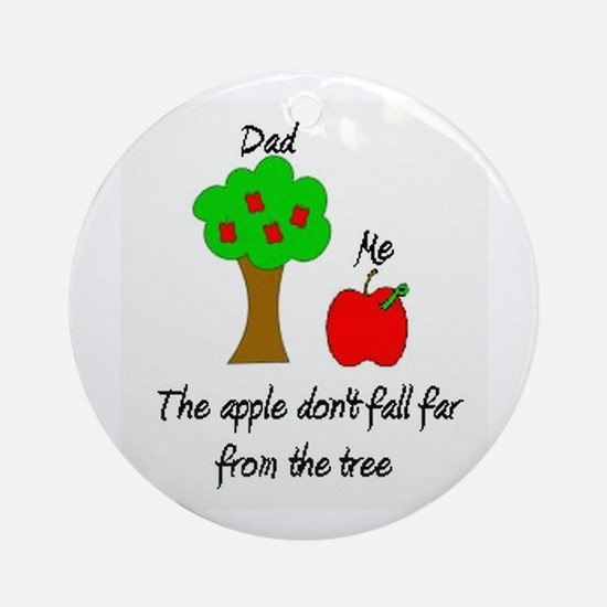 Father's Day Apple Tree Ornament (Round)