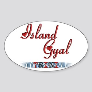 Island Gyal - Trini - Oval Sticker