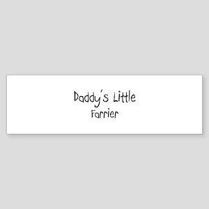 Daddy's Little Farrier Bumper Sticker