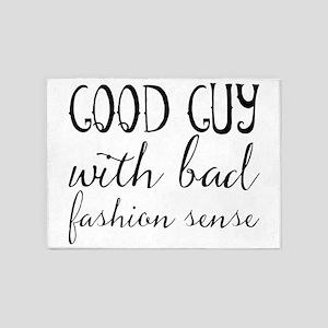 Good guy with bad fashion sense 5'x7'Area Rug