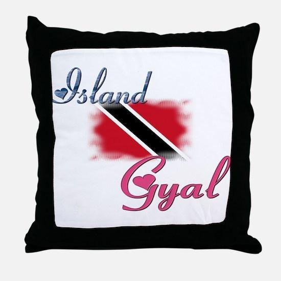 Island Gyal - Trini Throw Pillow