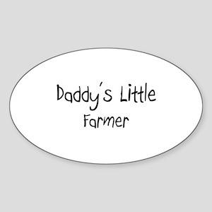 Daddy's Little Farmer Oval Sticker